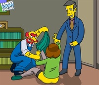 famous toons porn pic simpsons xxx pic edna krabappel groundskeeper willie seymour skinner famous toons facial
