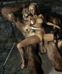 fucked toons pics ardent monster fuck cute chick hideous golem