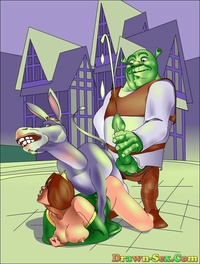 fun toon sex cartoon shrek his friends having wild fun