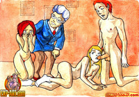 fun toon sex witch demure girls having