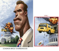 funny sexy toons funny toons arnold schwarzenegger face