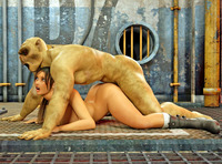 green porn toons dmonstersex scj galleries toon porn gallery green monster using human chick