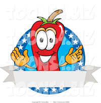 hot toons pic vector illustration red hot chili pepper mascot stars blank label toons biz design