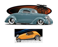 hot toons pics gallery dwayne vance samplepages page hot rod art book how draw cars