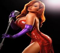 hot toons pics wallpaper jessica rabbit red hot dress cool toons hair