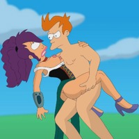 image of cartoon porn fry futurama nikisupostat turanga leela animated