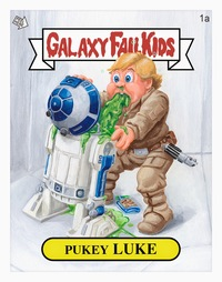 kids toon sex pukey luke garbage pail kids print jason chalker children art exhibition