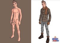 naked cartoons characters sexy hung twink cartoon stripped bare twinky toons page