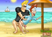 nasty toon porn gals cartoon dicks johnny bravo cums