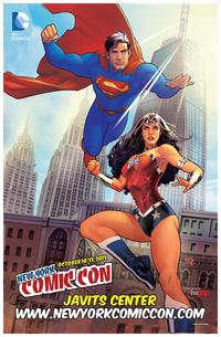new comic porn pics nycc poster comic con superman wonder woman shelf porn york october