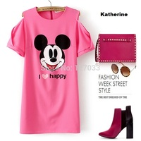 new toons cartoon porn wsphoto font summer fashion women cartoon mickey mouse patterns printed candy color