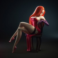 nice sexy toon orig art illustration jessica rabbit sexy toon favim