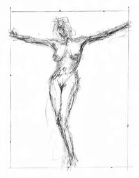 nude cartoon pic medium large female nude pose jesus christ crucifix pencil drawing nenad cerovic art all woman cartoon canvas prints