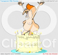 nude cartoon pic clipart cartoon nude ugly white woman popping out birthday cake royalty free vector illustration portfolio djart