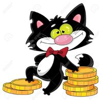 picture of cartoon pussy polkan illustration cat money stock vector cartoon photo pussy