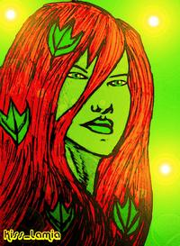 poison ivy porn comic original poison ivy portrait colour forums artist show off kiss lamia art work