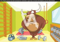 porn cartoon characters cartoon character bull bodybuilder vector illustration eps fbb exercise characters