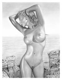 porn drawings gallery medium large original pencil drawing nude girl wwwolgabellca olga bell featured