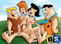 porn pics of cartoons drawn cartoon porn flintstones trying swinging club
