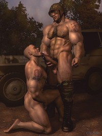 porn toons 3d gay pics passionate army cuming