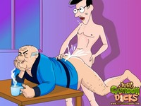 sex in toon old fat gay grandpa toon