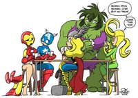 sex toon art opposite avengers fourpanelhero art