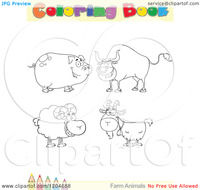 sex toons free cartoon coloring book page farm animal outlines text colored pencil border royalty free vector clipart toons videos