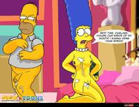 sexy cartoon toons media homer marge bondage