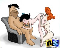 sexy fucking toons galleries drawnsex horny toon fred flintstone pic