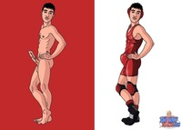 sexy naked cartoon characters uncut twink cartoon wrestler twinky toons