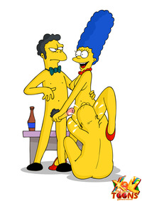 simpson cartoon porn gallery steamy threesome from simpsons
