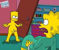 simpsons adult toons dcfd bart simpson lisa simpsons famous toons facial