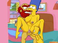 simpsons adult toons bba acb eca bart simpson groundskeeper willie marge simpsons comics toons