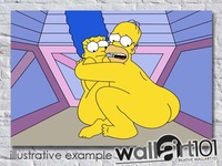 simpsons cartoon naked wallart ebay main animation cartoon simpsons scared homer marge naked simpson adult