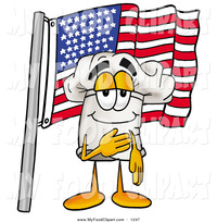 the best porn cartoon food clip art cheerful white chefs hat mascot cartoon character pledging allegiance american flag toons biz wolf waving