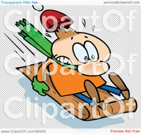 toon free sex royalty free clipart illustration toon guy holding tight toboggan sledding downhill maxwell