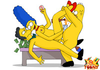 toons getting fucked marge gets talked hot threesome