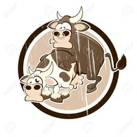 xxx porn cartoon sex shock vintage cow bull having badge stock vector cartoon cartoons free